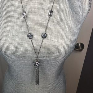 Gray and silver necklace